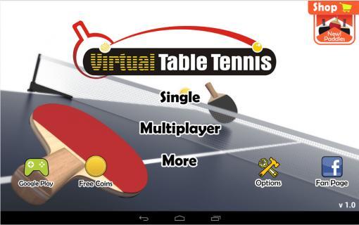 virtual table tennis截图1